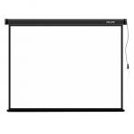 Проекционный экран, Deluxe, DLS-E406-305, Моторизированный, 406x305, Matt white, Чёрный