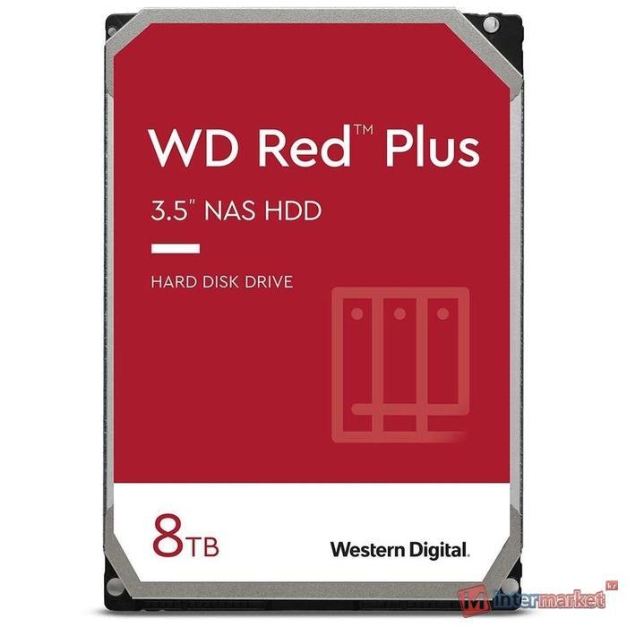 Жесткий диск для NAS систем HDD 8Tb Western Digital RED Plus SATA6Gb/s 3.5